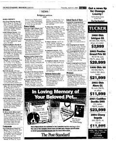 Syracuse Post Standard, April 21, 2005, Page 379
