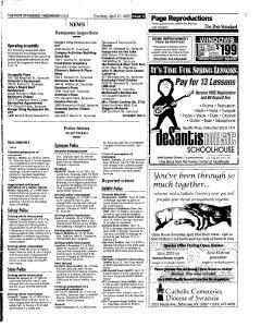 Syracuse Post Standard, April 21, 2005, Page 95