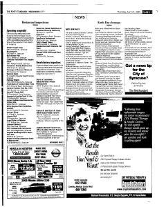 Syracuse Post Standard, April 21, 2005, Page 213
