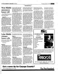 Syracuse Post Standard, April 21, 2005, Page 347