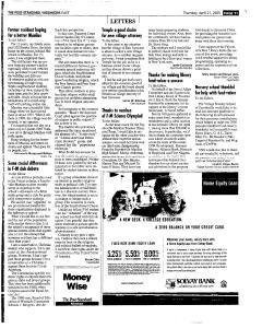 Syracuse Post Standard, April 21, 2005, Page 97