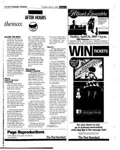 Syracuse Post Standard, April 21, 2005, Page 77