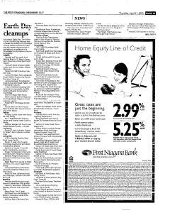 Syracuse Post Standard, April 21, 2005, Page 99