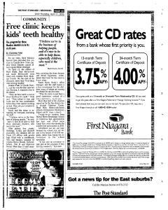 Syracuse Post Standard, April 21, 2005, Page 119