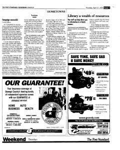 Syracuse Post Standard, April 21, 2005, Page 375