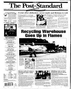Syracuse Post Standard newspaper archives