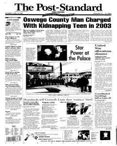 Syracuse Post Standard, April 30, 2005, Page 1