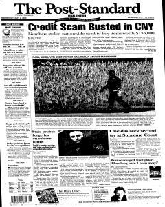 Syracuse Post Standard, May 04, 2005, Page 1