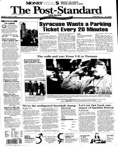 Syracuse Post Standard, May 09, 2005, Page 1