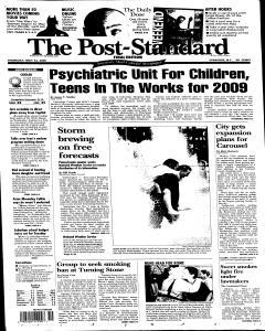 Syracuse Post Standard, May 12, 2005, Page 1
