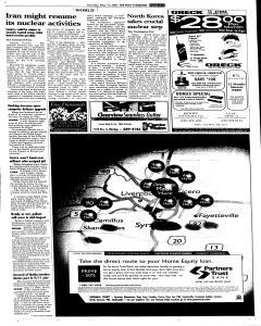Syracuse Post Standard, May 12, 2005, Page 9