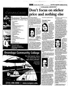 Syracuse Post Standard, May 17, 2005, Page 56