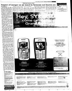 Syracuse Post Standard, May 20, 2005, Page 9