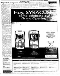 Syracuse Post Standard, May 20, 2005, Page 83