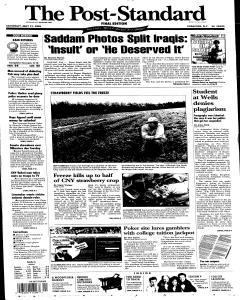 Syracuse Post Standard, May 21, 2005, Page 1