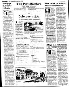 Syracuse Post Standard, May 21, 2005, Page 8