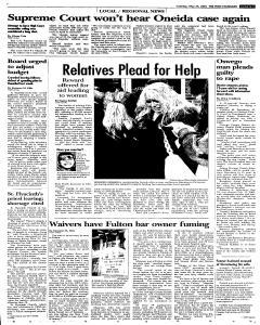 Syracuse Post Standard, May 24, 2005, Page 33