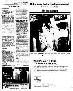 Syracuse Post Standard, May 25, 2005, Page 140