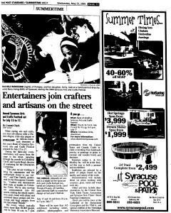 Syracuse Post Standard, May 25, 2005, Page 450