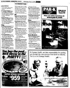 Syracuse Post Standard, May 25, 2005, Page 707