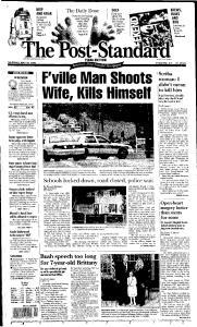 Syracuse Post Standard, May 26, 2005, Page 1