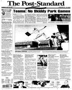 Syracuse Post Standard, May 28, 2005, Page 1