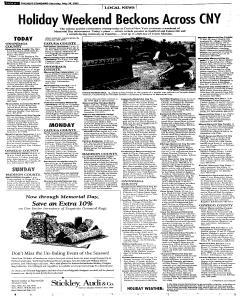 Syracuse Post Standard, May 28, 2005, Page 19