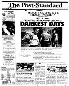 Syracuse Post Standard, May 29, 2005, Page 1