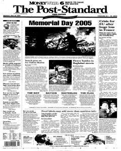 Syracuse Post Standard, May 30, 2005, Page 1
