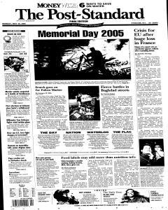 Syracuse Post Standard, May 30, 2005, Page 2