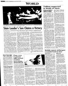 Syracuse Post Standard, May 30, 2005, Page 8