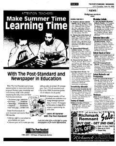 Syracuse Post Standard, June 16, 2005, Page 497