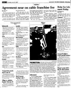 Syracuse Post Standard, June 16, 2005, Page 286