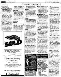 Syracuse Post Standard, June 16, 2005, Page 488