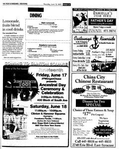 Syracuse Post Standard, June 16, 2005, Page 158
