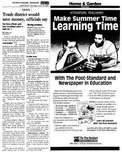 Syracuse Post Standard, June 16, 2005, Page 288
