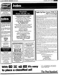 Syracuse Post Standard, June 16, 2005, Page 340