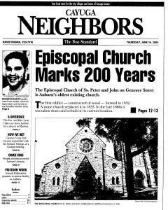 Syracuse Post Standard, June 16, 2005, Page 726