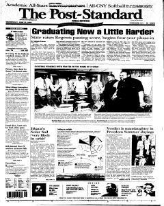Syracuse Post Standard, June 22, 2005, Page 1