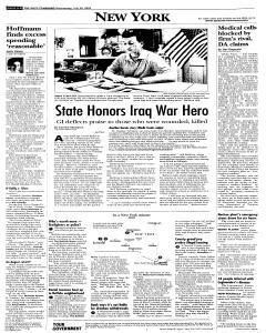 Syracuse Post Standard, July 20, 2005, Page 66