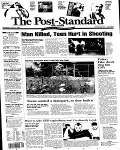 Syracuse Post Standard, July 21, 2005, Page 1