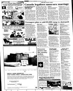 Syracuse Post Standard, July 21, 2005, Page 8