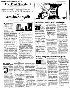 Syracuse Post Standard, July 22, 2005, Page 58