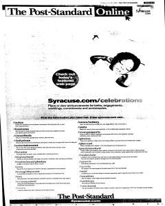 Syracuse Post Standard, July 29, 2005, Page 59
