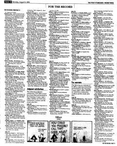 Syracuse Post Standard, August 08, 2005, Page 59