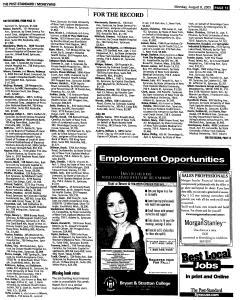 Syracuse Post Standard, August 08, 2005, Page 58