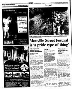 Syracuse Post Standard, August 11, 2005, Page 222