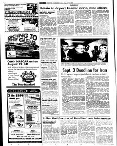 Syracuse Post Standard, August 12, 2005, Page 4