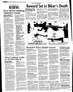 Syracuse Post Standard, August 13, 2005, Page 10