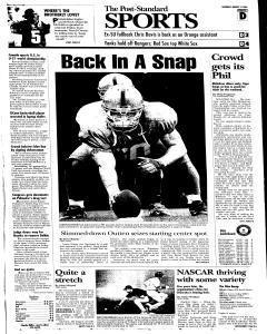 Syracuse Post Standard, August 13, 2005, Page 21